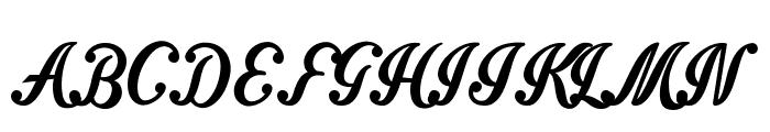 Intrique Script Personal Use Font UPPERCASE