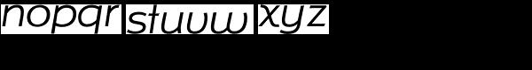 Isbellium NB Italic Font LOWERCASE
