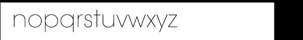 ITC Avant Garde Gothic® Extra Light Font LOWERCASE