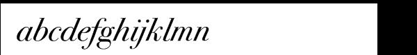 ITC Bodoni™ Seventy-Two Book Italic Swash Font LOWERCASE