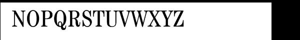 ITC Century® CE Book Condensed Font UPPERCASE