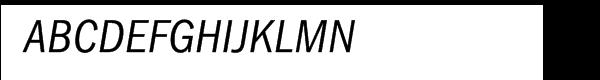 ITC Franklin Gothic CE Condensed Italic Font UPPERCASE