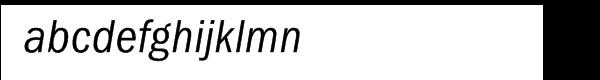 ITC Franklin Gothic CE Condensed Italic Font LOWERCASE
