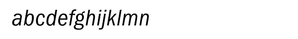 ITC Franklin Gothic Multilingual Condensed Italic Font LOWERCASE