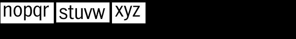 ITC Franklin Std Narrow Light Font LOWERCASE
