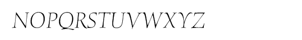 ITC Humana Pro Light Italic Font UPPERCASE