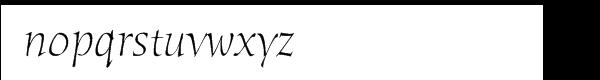 ITC Humana Pro Light Italic Font LOWERCASE