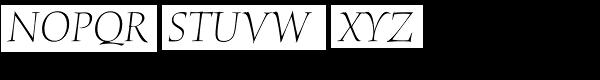 ITC Humana Serif Pro Light Italic Font UPPERCASE