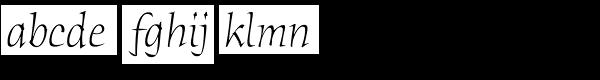 ITC Humana Serif Pro Light Italic Font LOWERCASE