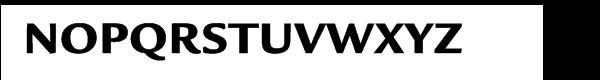 ITC Legacy® Sans Pro Ultra Font UPPERCASE