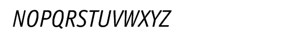 ITC Officina™ Pro Sans Book Italic Font UPPERCASE