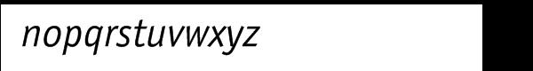 ITC Officina™ Pro Sans Book Italic Font LOWERCASE