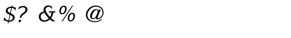 ITC Symbol Std Medium Italic Font OTHER CHARS