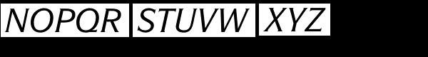 ITC Symbol Std Medium Italic Font UPPERCASE