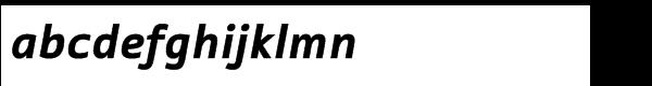 ITC Tabula™ Std Black Italic Font LOWERCASE