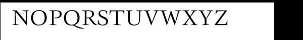 ITC Veljovic® Book Font UPPERCASE