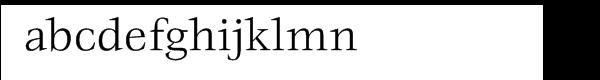 ITC Veljovic® Book Font LOWERCASE