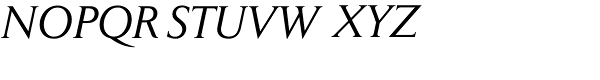 Jaeger Daily News Italic Font UPPERCASE