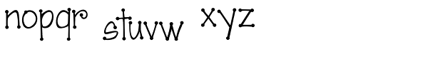 Janda Scrapgirl Dots Font LOWERCASE