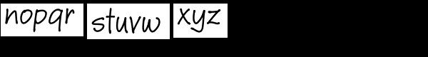 Janie HMK Font LOWERCASE