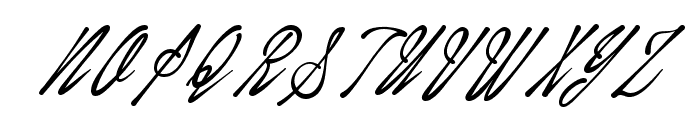 January Script Personal Use Font UPPERCASE