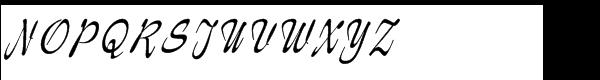 Jasper Regular Font UPPERCASE