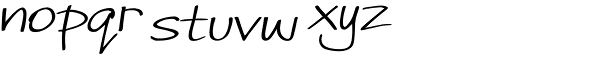 Joules Italic Font LOWERCASE