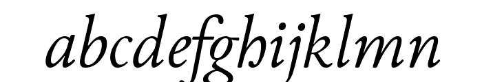 Junicode Italic Font LOWERCASE