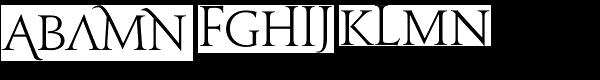 Jupiter Alts Font UPPERCASE