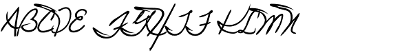 Juri Handwriting Font UPPERCASE
