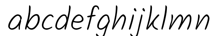 Kalam Light Font LOWERCASE