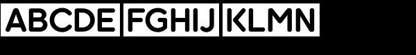 Kaleko 205 Round Bold Font UPPERCASE