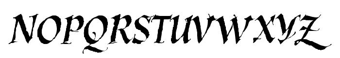 KaligrafLatin Font UPPERCASE