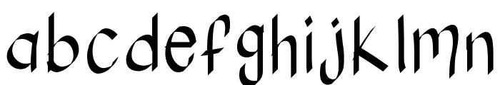 KBStylographic Font LOWERCASE