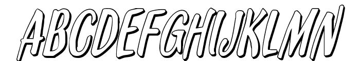 Kennebunkport 3D Italic Font UPPERCASE