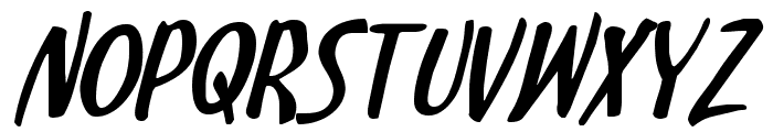 Kennebunkport Expanded Italic Font UPPERCASE