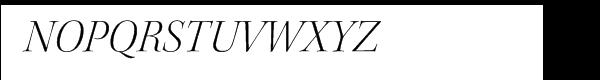 Kepler® Light Italic Disp Font UPPERCASE