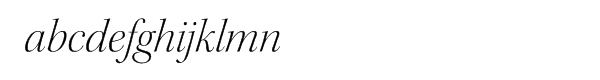 Kepler® Light Italic Disp Font LOWERCASE