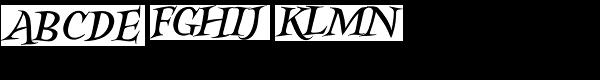 Kidela Italic Font UPPERCASE