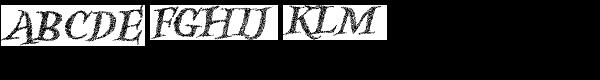 Kidela Sketch Bold Italic Font UPPERCASE