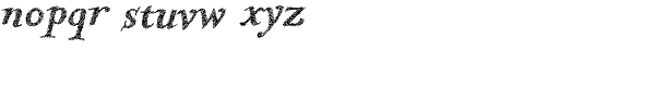 Kidela Sketch Bold Italic Font LOWERCASE