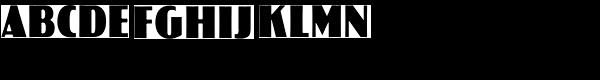 Koloss Condensed Bold Font UPPERCASE