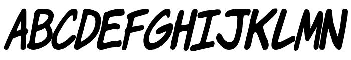 Komika Jam Italic Font LOWERCASE