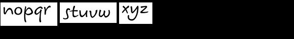 Koorkin Font LOWERCASE
