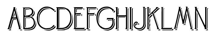 Landsdowne Shadowed Font UPPERCASE