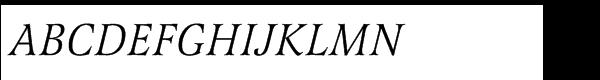 Latienne Std Italic Font UPPERCASE