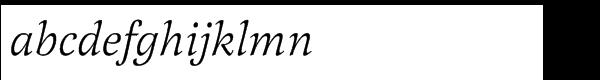 Latienne Std Italic Font LOWERCASE