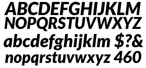 Lato Black Italic free Font