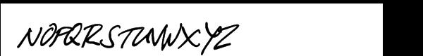 Lazy Bird Font UPPERCASE