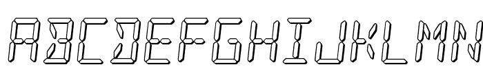 LED Sled 3D Font UPPERCASE
